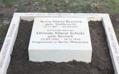 Gedenkveranstaltung zum 75. Todestag von Elfriede Scholz